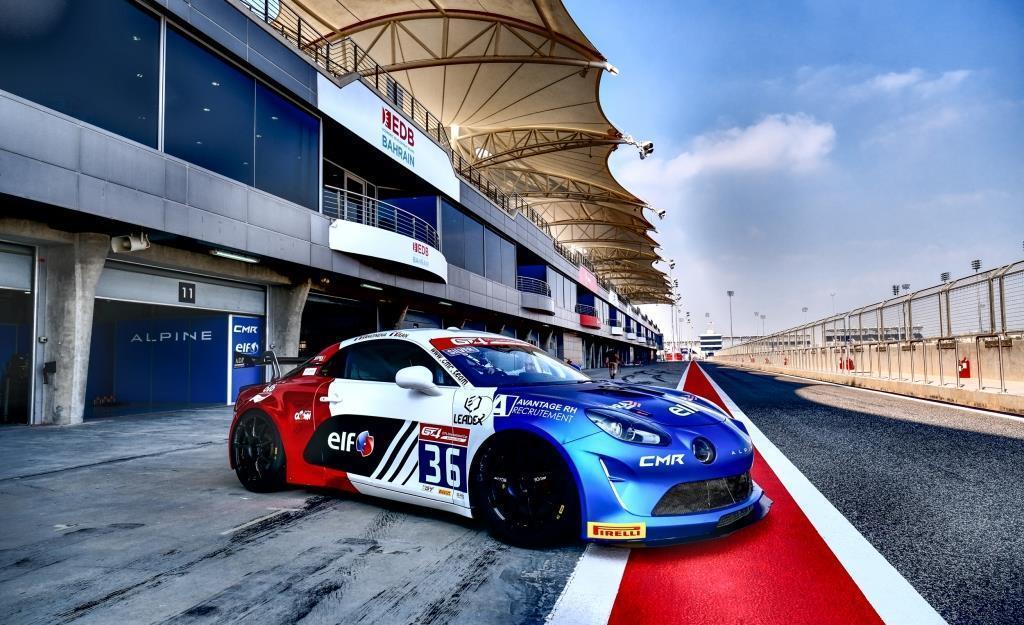 """Alpine A110 GT4 International Cup à Bahreïn Sancinena Jean CMR 18 - Notre Livre: """"Alpine, le retour en compétition"""" à Rétromobile 2020"""