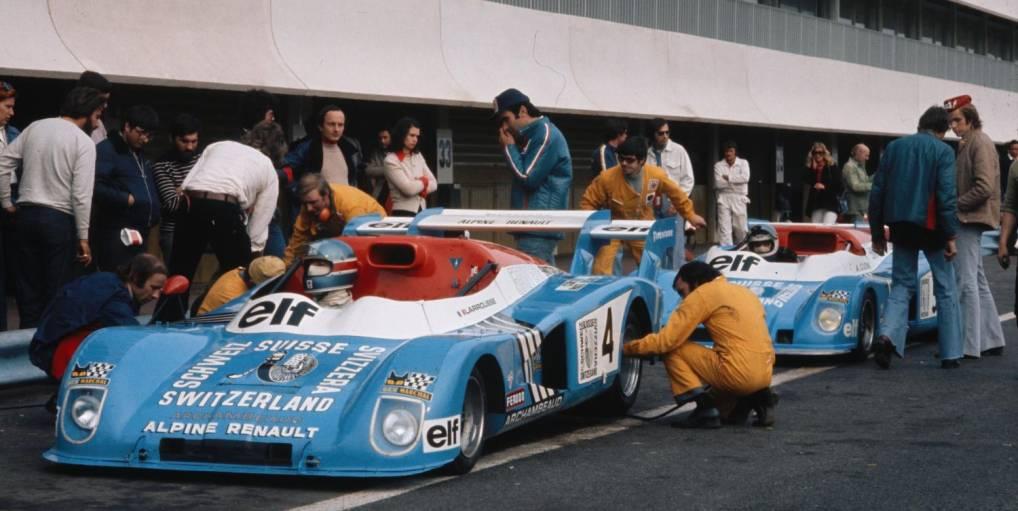 1974   André Desaubry : Artisan des victoires Alpine en circuit.