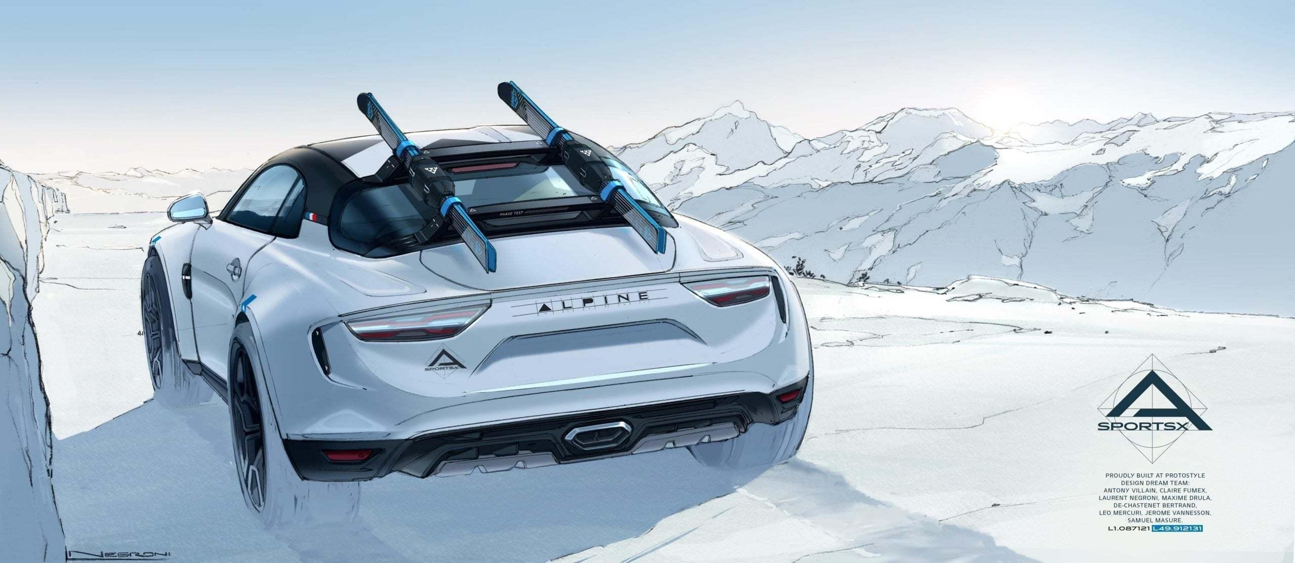 Alpine A110 SportsX Festival International Automobile 2020 2 scaled | Alpine A110 Sports X : un concept SUV Coupé ?