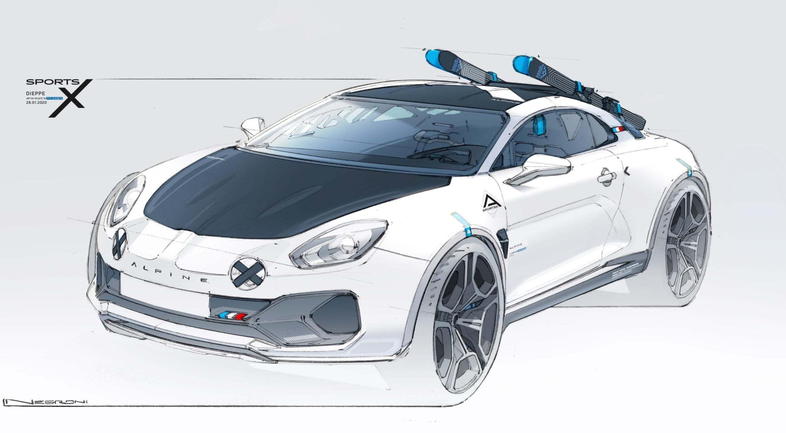 Alpine A110 SportsX Festival International Automobile 2020 3 scaled | Alpine A110 Sports X : un concept SUV Coupé ?