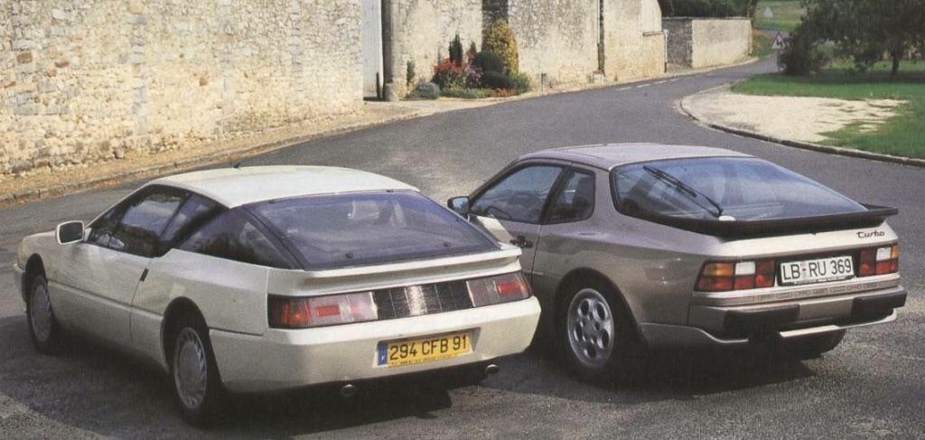 Alpine GTA Turbo et Porsche 944