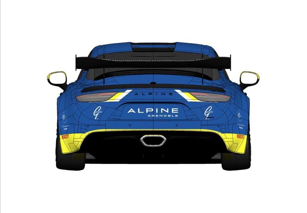 Alpine A110 GT4 Gaël Castelli Livrée 2020