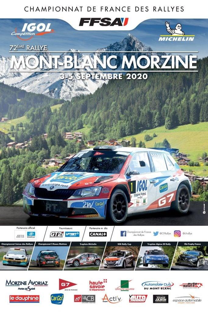 FFSA Rallye Affiche Mont Blanc Morzine 2020   Alpine A110 RALLY: le Rallye Mont-Blanc Morzine 2020