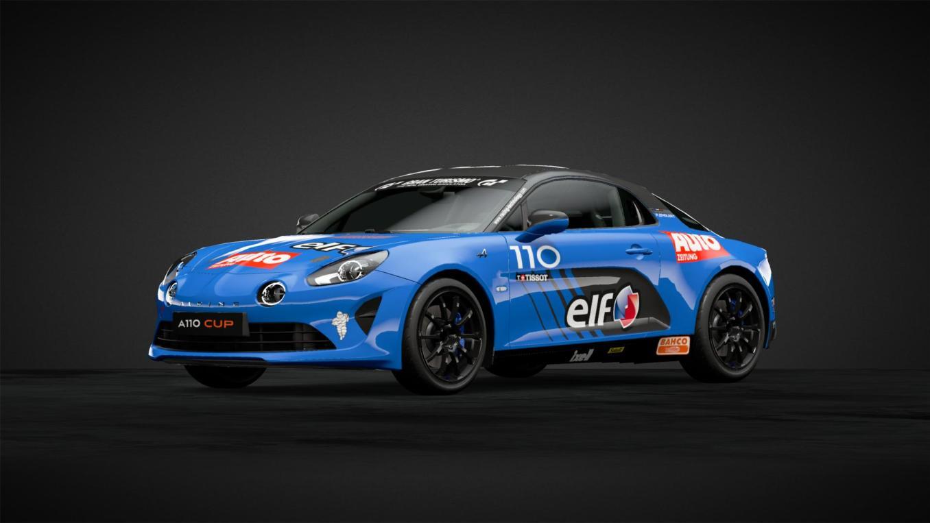 Course 3 Alpine Elf Europa Cup n°110 Paul ENGLERT 2018 GT Sport   Gran Turismo Sport : Rémi Adam, la référence des livrées Alpine A110 Cup