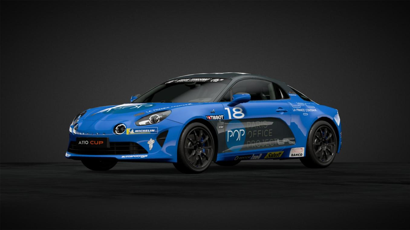 Pierre MACCHI n°18 Alpine Elf Europa Cup 2020 GT Sport   Gran Turismo Sport : Rémi Adam, la référence des livrées Alpine A110 Cup