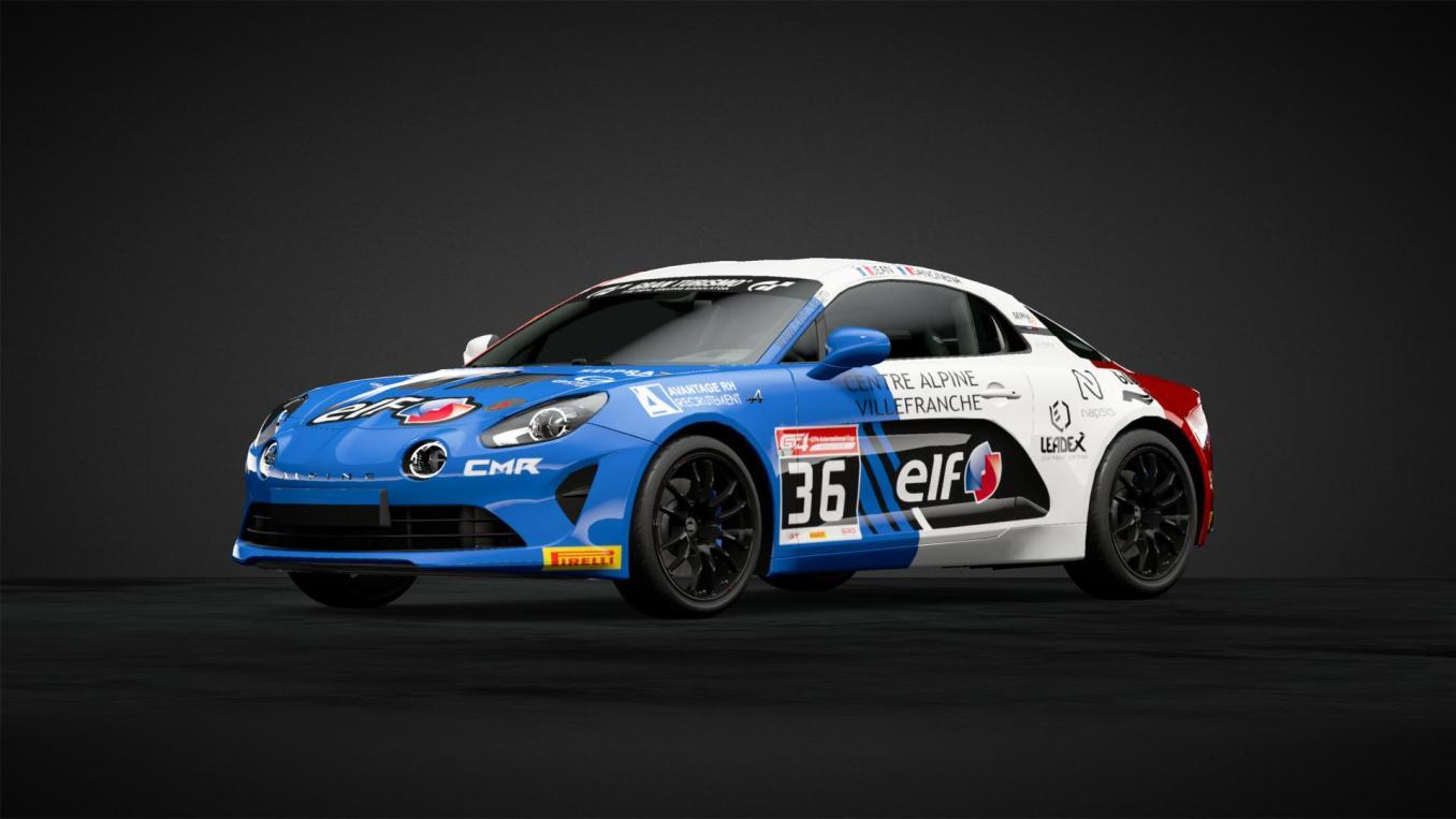 World Champion 2018 Alpine GT4 Pierre Alexandre JEAN et Pierre SANCINENA CMR GT Sport   Gran Turismo Sport : Rémi Adam, la référence des livrées Alpine A110 Cup