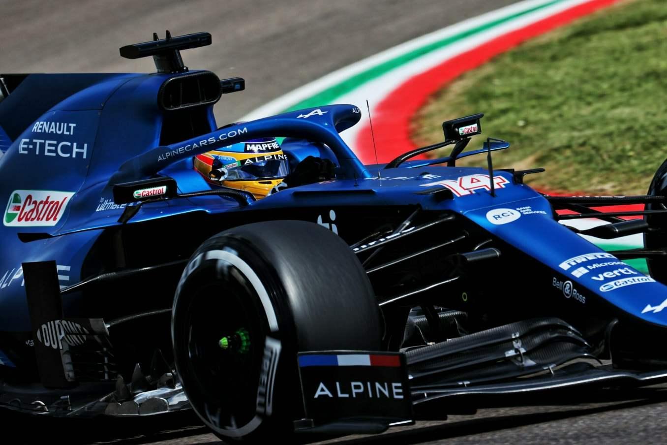 Alpine F1 Team A521 Alonso Ocon Brivio Permane Imola 2021 Test 10 scaled | Alpine F1 Team en milieu de peloton aux essais à Imola