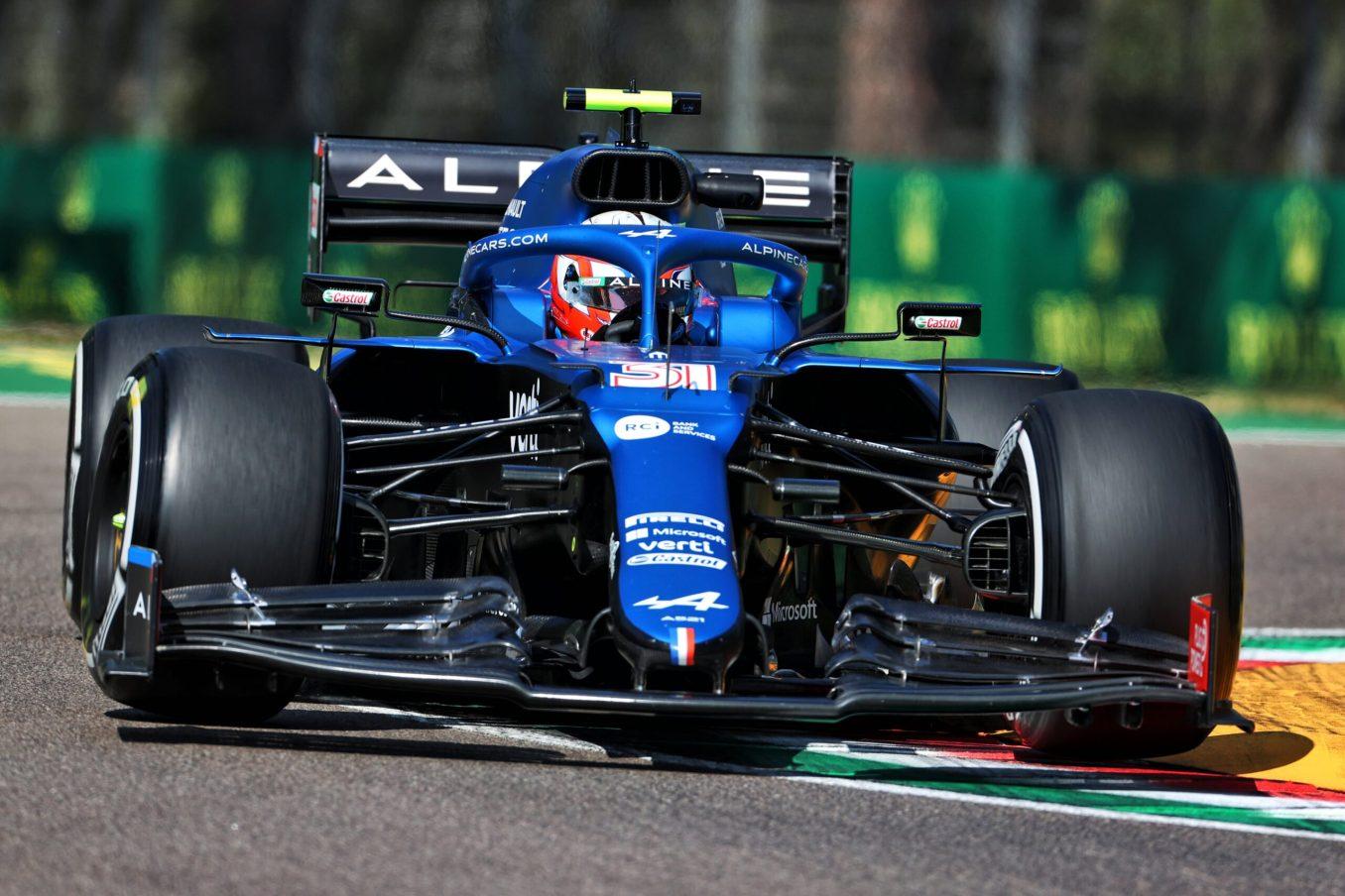 Alpine F1 Team A521 Alonso Ocon Brivio Permane Imola 2021 Test 14 scaled | Alpine F1 Team en milieu de peloton aux essais à Imola