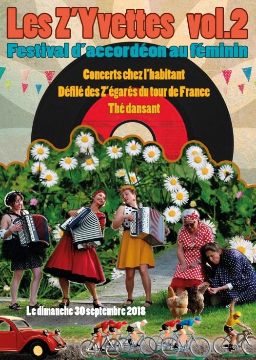 Affichedu festival accordéon les Z'Yvettes