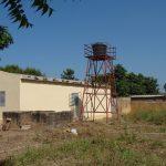Réservoir d'alimentation en eau du dispensaire