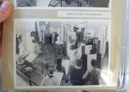Photographies des ateliers de l'École des Beaux-Arts, 1960. Cliché Grégory Delauré, Archives de Rennes, 350 FI 249_4.