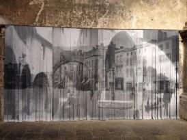 AUTREFOIS, DANS 103 ANS, Source visuelle issue du fond d'archives du Musée de La Cour d'Or, impression numérique sur papier toilé, Cyrielle Lévèque, 2015, l'église des Trinitaires à Metz