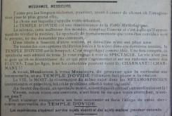 Affichette de publicité pour une attraction foraine, fin du XIXe siècle, cliché Grégory Delauré. Archives de Rennes, I36.
