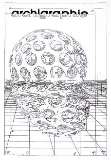 Buckminster Fuller's Dome, feutre alcool sur papier 100 x 150 cm, DrawBot. Macula Nigra, 28 août 2016.