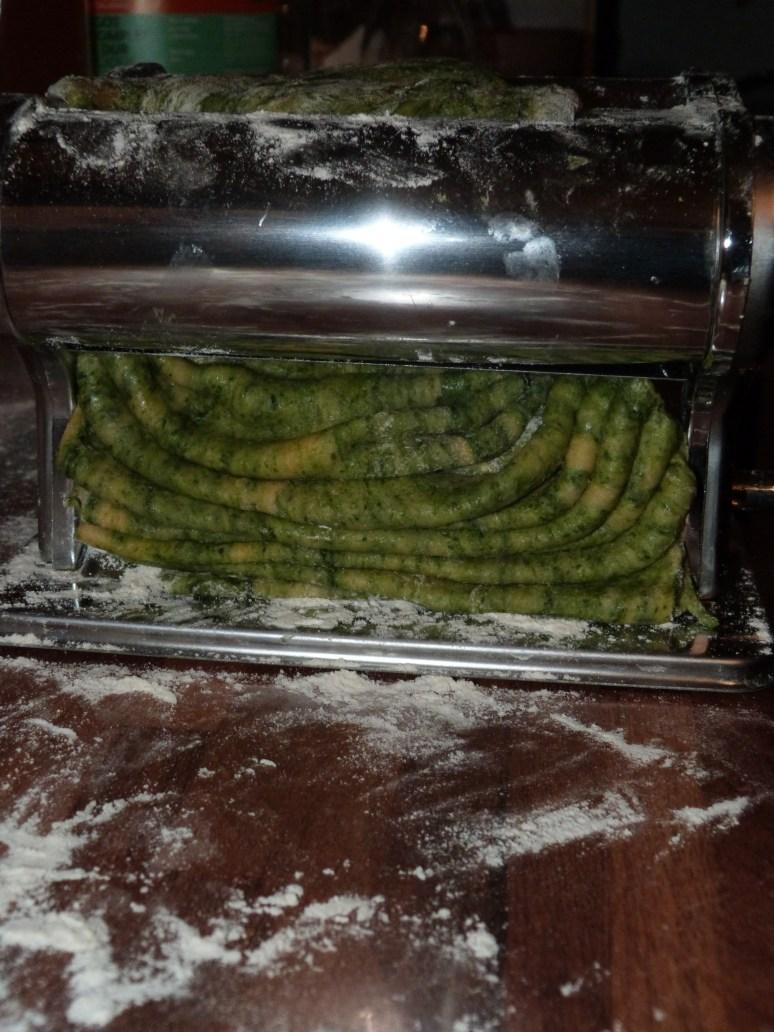 Pâtes aux épinards, gorgonzola et pignons de pins (5)