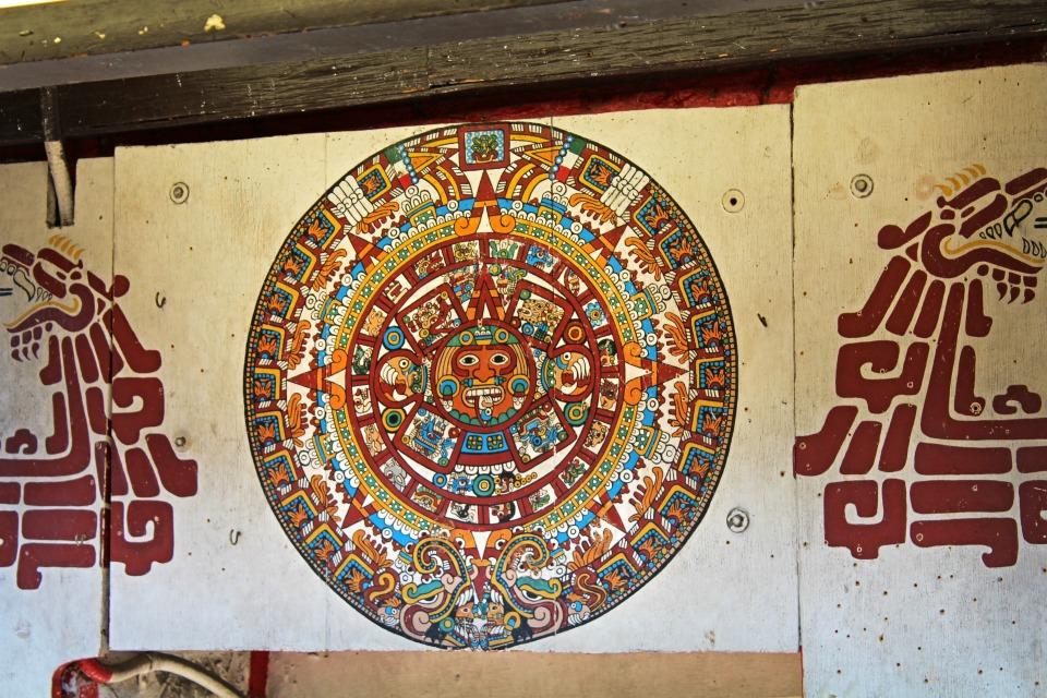 Que faire à los angeles - Illustration Cercle aztèc