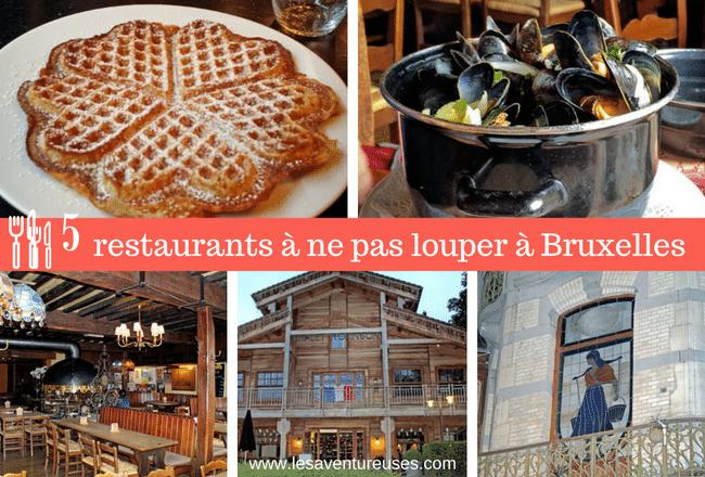 5 restaurants à ne pas louper lors de votre séjour à Bruxelles