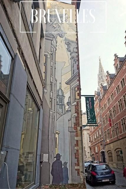 Que faire à Bruxelles - Fresque BD près de la Grand Place