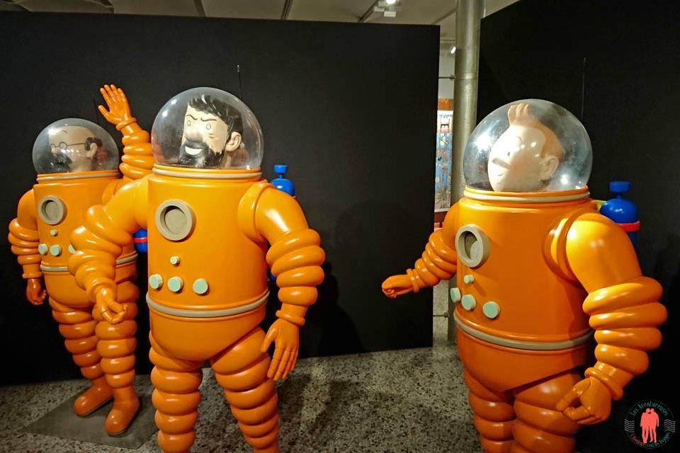 Que faire à Bruxelles - CBBD Statues Tintin