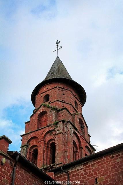 Collonges la Rouge - Vue du haut de l'église extérieur