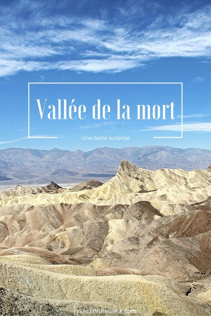 la Vallée de la mort Zabriskie Point