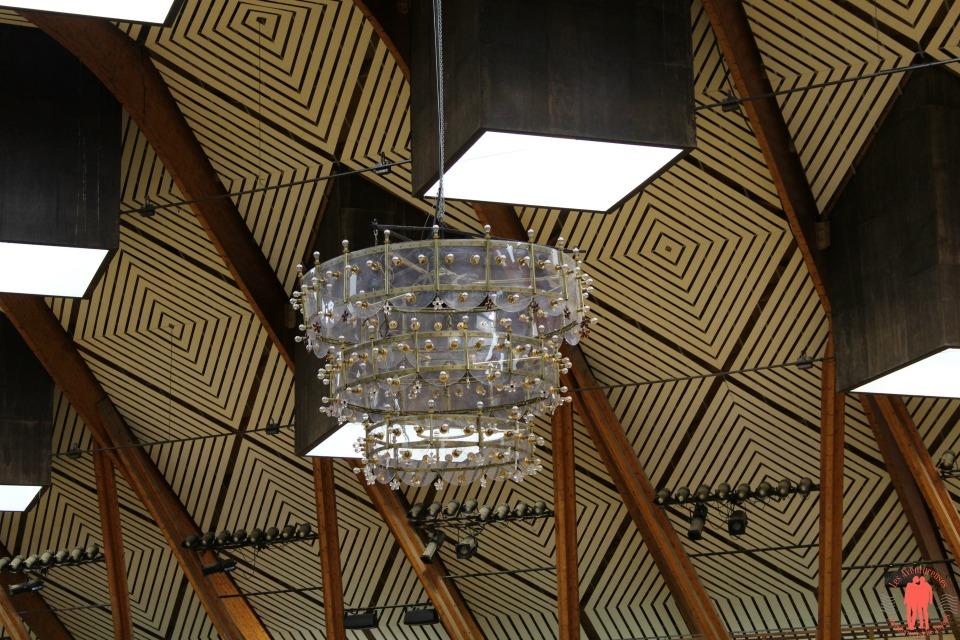 Visiter saumur Sous le plafond du manège cadre noir