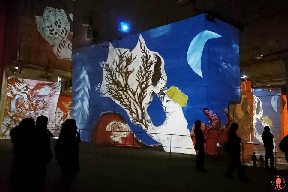 Carrières de Lumières Chagall Nuit