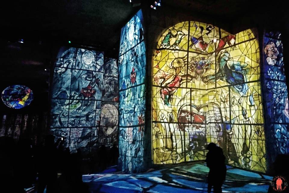 Carrières de Lumières Chagall Vitraux
