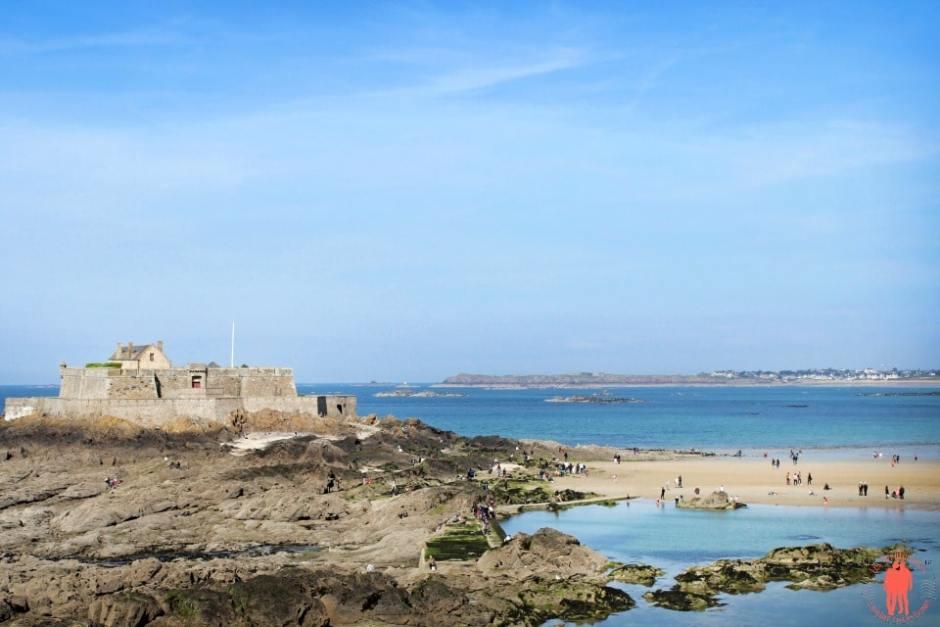 Vue fort National - Visiter Saint-Malo