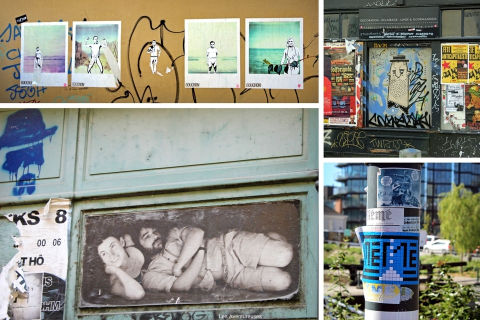 Collage Street-Art - Visiter Rennes