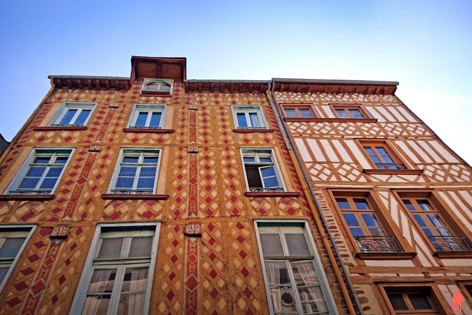Visiter Rennes - Maisons à pan de bois