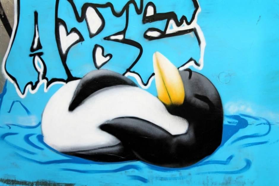 Visiter Rennes - Street-Art Pingouin