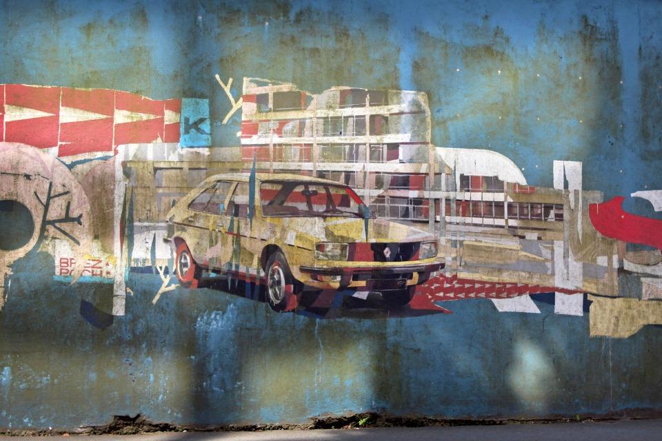 Visiter Rennes - Street-Art Voiture