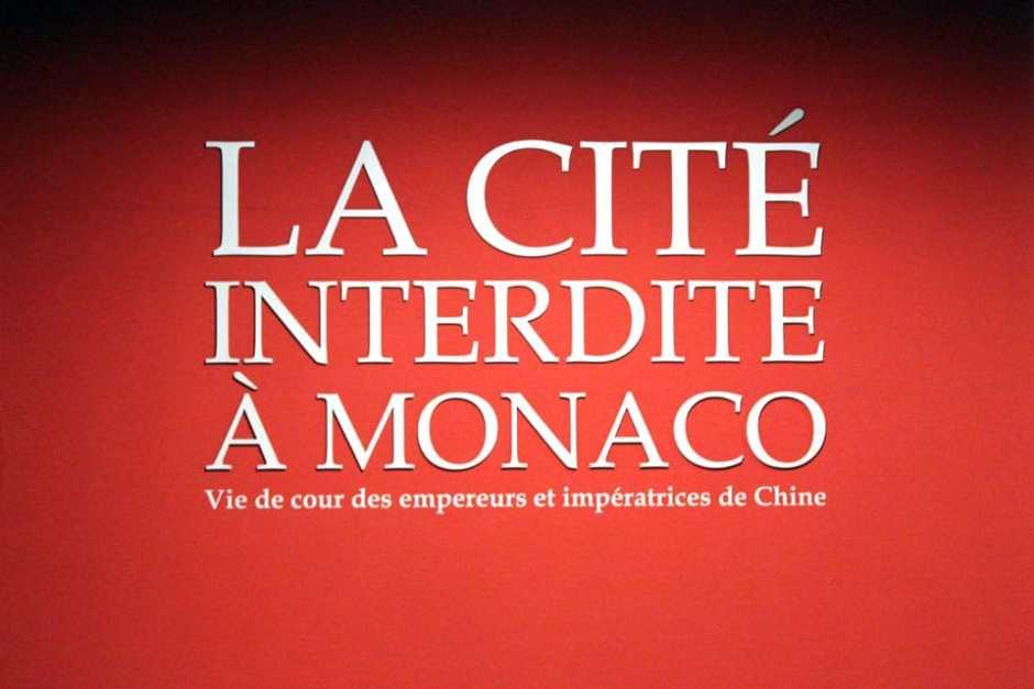 Exposition La cité Interdite à Monaco_