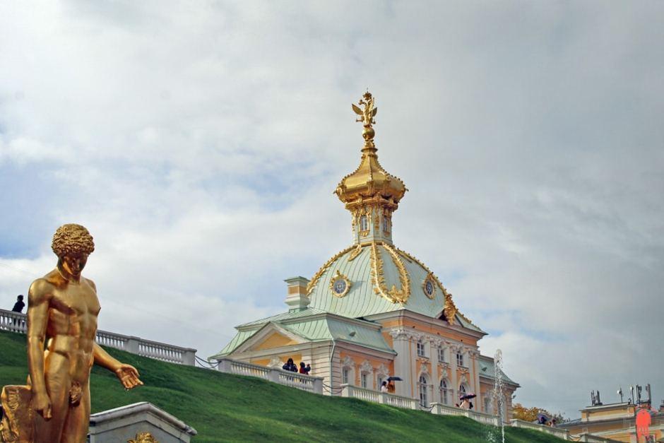 Palais de Peterhof-Palais-statue