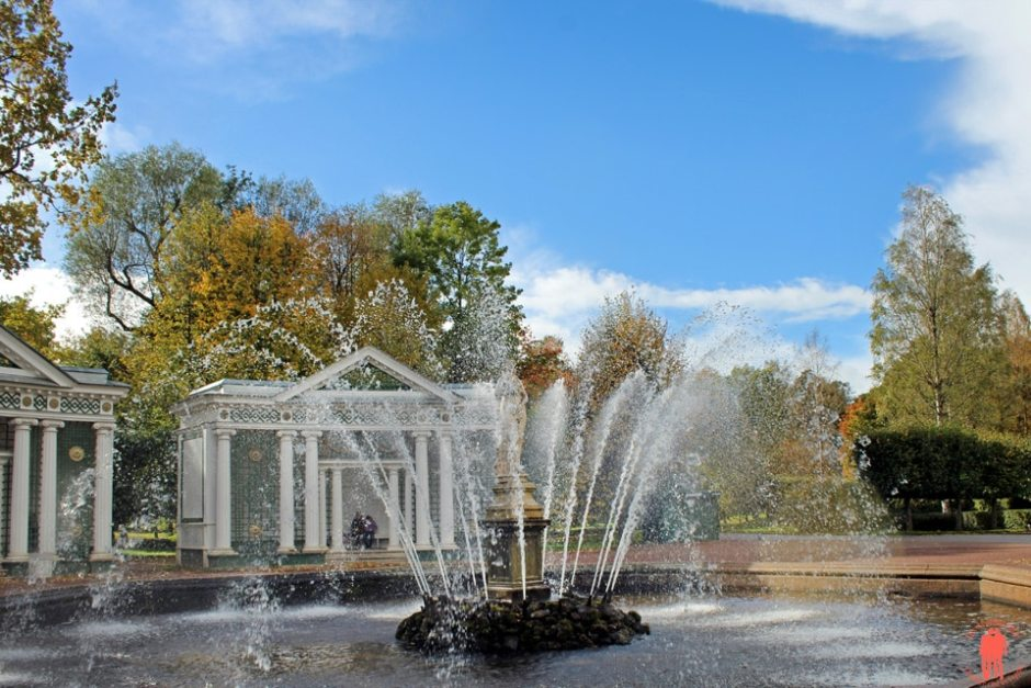 Palais de Peterhof-fontaine-jardin-inférieur