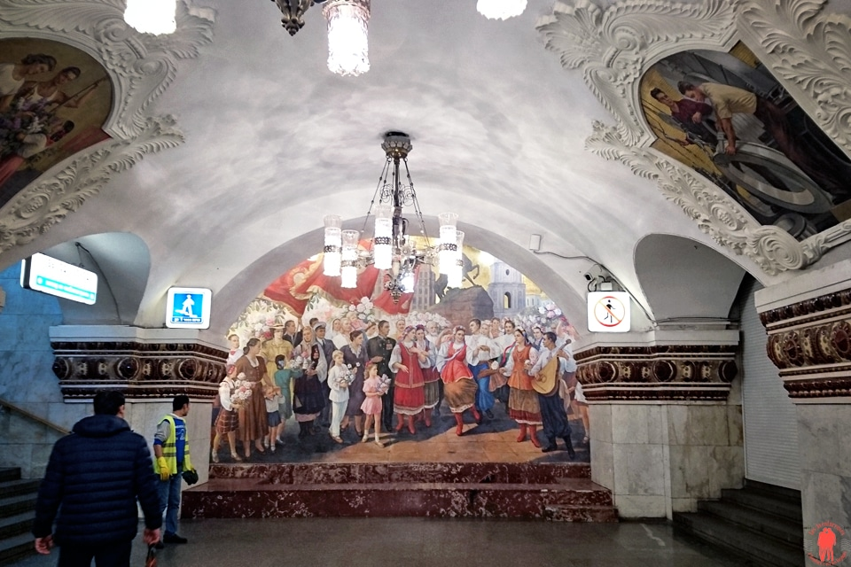 Visiter Moscou Station Metro blanc