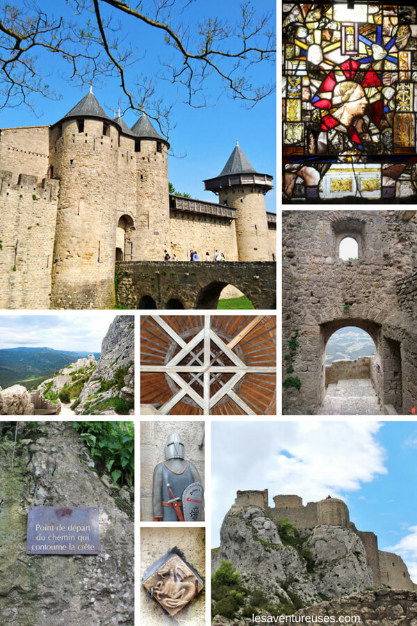 Collage Guide Aude châteaux cathares