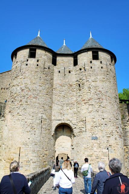 Entree Chateau de Carcassonne Châteaux Cathares
