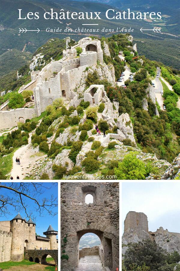 Découvrez notre Guide complet sur les principaux Châteaux Cathares à visiter dans le département de l'Aude. Bonne découverte ! #Cathares #Aude #Queribus #Peyrepertuse #Chateaux #Patrimoine #France