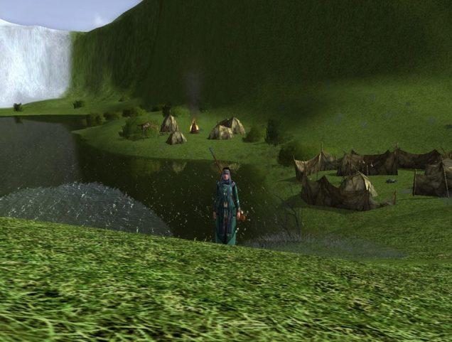 Un camp caché au nord du Palais de Thorin.
