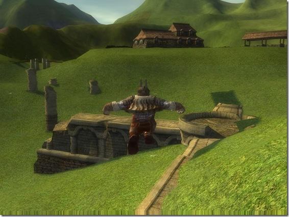 Village abandonné au Nord des Terres Solitaires.