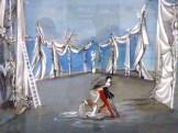 Projet de décor pour Sérénade. André Delfau, 1947.