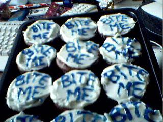 """Bite Me"" Cupcakes"