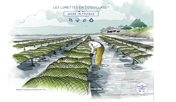 Friendly Frenchy lunettes coquillages Les Belles Gueules opticien Bordeaux