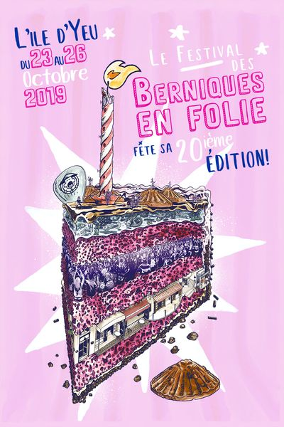 Affiche 2019 Les Berniques en Folie - L'Ile d'yeu