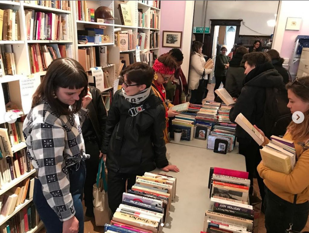 visitors at the booksale