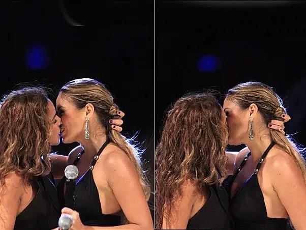 Daniela Mercury y Alinne Rosa comparten un beso muy lesbicanario