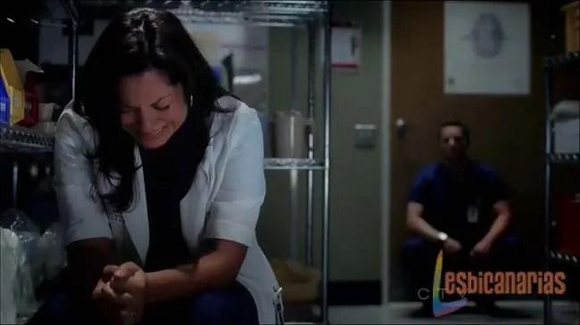 Callie llorando desconsolada