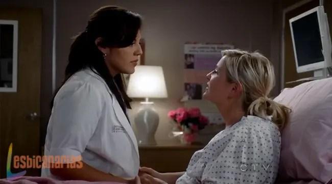 Callie y Arizona felices en el hospital